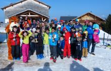 La course du ski-club