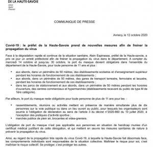 Situation sanitaire en Haute-Savoie - Arrêté préfectoral
