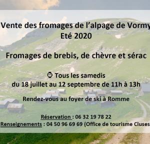 Vente des fromages de Vormy
