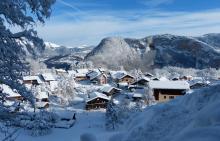 Ambiance hivernale à La Frasse
